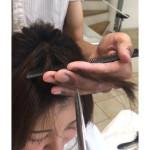 前髪カット!