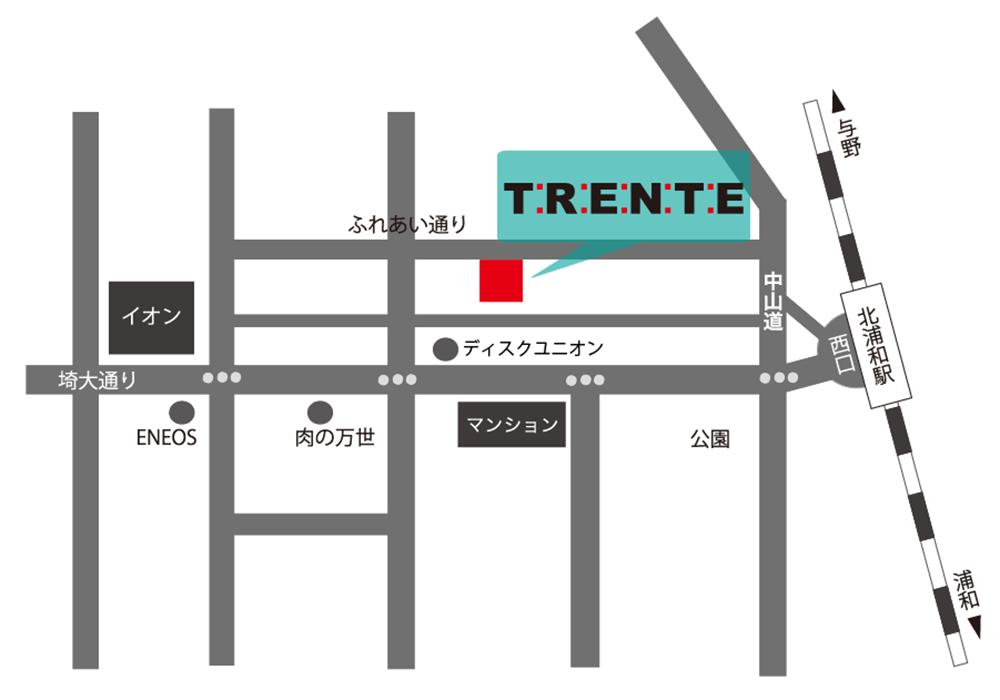 北浦和店アクセスマップ