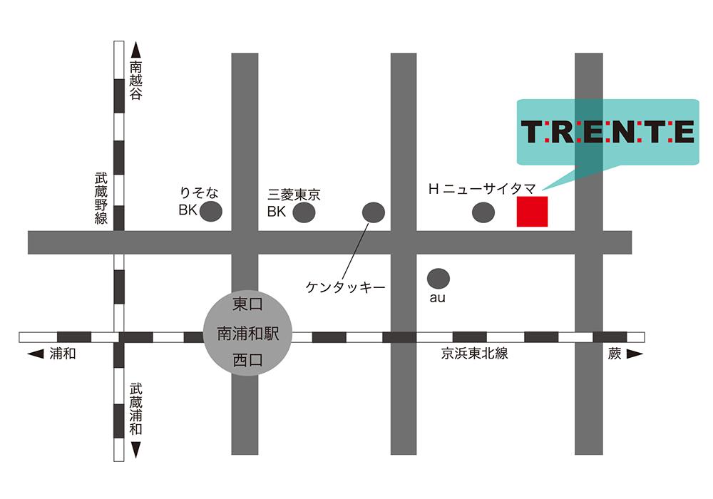 南浦和店アクセスマップ