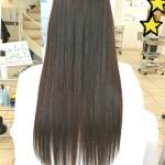 縮毛矯正のお髪で初カラー!